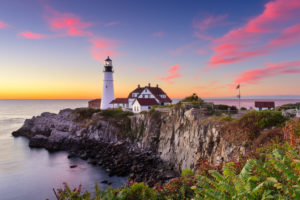 view of lighthouse in portland, maine